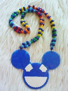 Deadmau5 Perler Necklace by PlanetRainbow on Etsy, $15.00