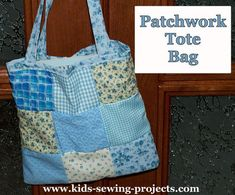 Learn how to sew a Patchwork tote bag with these instructions. Sewing Projects For Kids, Sewing For Kids, Fun Learning, Teaching Kids, Sewing Lessons, Simple Bags, Learn To Sew, Shoulder Pads, Fun Crafts