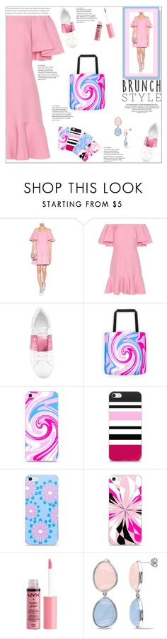 """Relaxed Brunch"" by atelier-briella ❤ liked on Polyvore featuring Valentino, Charlotte Russe, Miadora, chic, Elegant, iPhonecases, canvastotebag and brunchgoals"