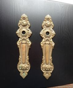 Back plate Door Handles Backplate Brass by TheForestSleeps on Etsy