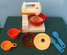 vintage Fisher price mixer. had this!
