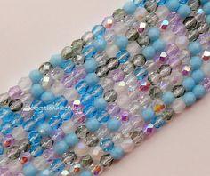 100 Serenity Mix Preciosa Fire Polished Czech Glass 3mm Round Spacer Beads #PreciosaOrnela #FirePolished