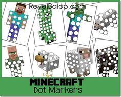Free Minecraft Dot Marker Printables