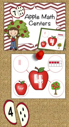 These apple themed math centers are prefect for back to school, just print, cut and go! This packet focuses on numbers 1-10.  Included are following activities... * 10 apple number mats (students sort and match various ways to represent a numeral) * 10 apple number puzzles (students match quantity and numeral) * 1 Roll and color worksheet.
