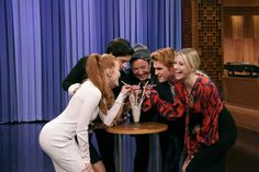 """Update: """"Riverdale"""" stars KJ Apa, Lili Reinhart, Camila Mendes, Cole Sprouse and Madelaine Petsch appeared on Tuesday's """"Tonight Show Starring Jimmy Riverdale Funny, Riverdale Cast, Riverdale Memes, Netflix, Riverdale Cole Sprouse, Search Party, Betty And Jughead, Lili Reinhart, Tonight Show"""