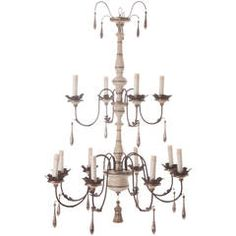 Italian Reproduction Painted 12 Light Chandelier | From a unique collection of antique and modern chandeliers and pendants  at https://www.1stdibs.com/furniture/lighting/chandeliers-pendant-lights/