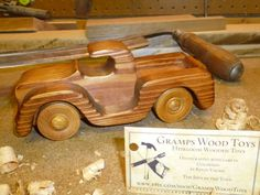Red Pick Up Truck Handcrafted wood by GrampsWoodToys on Etsy