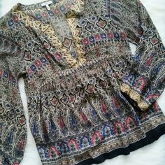 Joie Silk Semi-sheer Blouse Top The perfect top for this fall season! Condition: Very good. 100% Silk. NO TRADES!! Joie Tops Blouses
