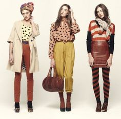 polka dots, orange, stripes, leather need i say more?