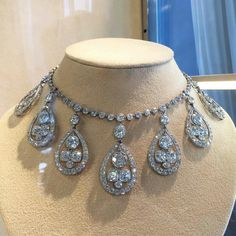 Cartier Belle Époque Diamond Necklace, part of the Anna Gould and Boni de Castellane collection, offered at Christie's Paris #christiesjewels