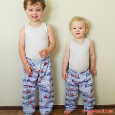 This free sewing pattern is for toddler pajama pants.  They come in 5 sizes  - 18 months to 5 years.  Thanks to Sew Jereli for posting this ...