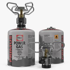 gas cylinder camping stove 3d model