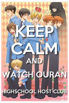 Ouran High School Host Club:watch it Me Anime, I Love Anime, Anime Manga, School Clubs, High School Host Club, Desu Desu, Ouran Highschool, Ouran Host Club, Another Anime
