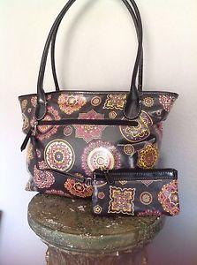 Giani Bernini Tote Bag with Cosmetic Bag Textile Designer Fashion Hip Chic   eBay