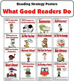 Great visual for teaching reading skills
