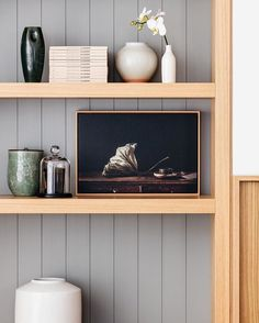Custom joinery detail and shelfies at our lovely Bellevue Hill House in Sydney by @felix_forest featuring a @felix_forest original Interior design and decoration by us, photographic styling by @megan_morton