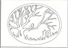Winter vynynanki on the windows - animals and birds - We create with children (Crafting with Kids) Wood Crafts, Paper Crafts, Diy Crafts, Waldorf Crafts, Scroll Saw Patterns, Silhouette, Kirigami, Rubrics, Paper Cutting