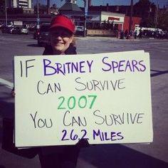 Good marathoning signage ideas!
