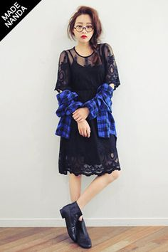 summer sweet>> Stylenanda  Sheer Feminine Dress