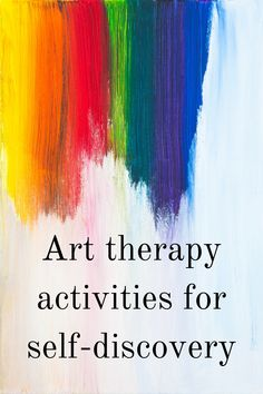 Art therapy activities are an excellent approach to self-discovery. Deepen the knowledge about yours Art Therapy Projects, Art Therapy Activities, Therapy Tools, Art Projects, 7 Arts, Broken Crayons Still Color, Art Therapy Directives, Creative Arts Therapy, Meditation