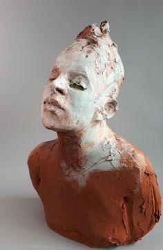 Sculpture Head, Sculpture Painting, Pottery Sculpture, Lion Sculpture, Ceramic Sculpture Figurative, Figurative Art, Ceramic Figures, Ceramic Art, Clay Figures
