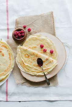 Pancakes- they look like 1/2 crepe, lol...