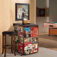 MINI Fridge's decal for beer lovers, Unusual father's day gift, Beer fridge decal, Beer Lovers gift, Gifts For Beer Lovers, Beer Gifts, Gift For Lover, Lovers Gift, Beer Fridge, Mini Fridge, Man Cave Gifts, Man Gifts, Man Cave Fridges