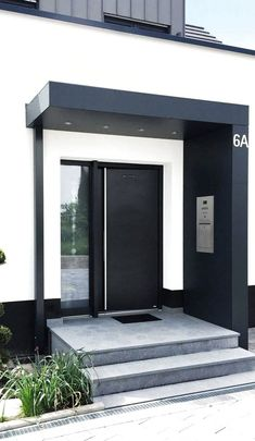 Modern Entrance Door, House Entrance, Entrance Doors, Diy Porch, House Inside, Unique Home Decor, Door Design, House Plans, New Homes