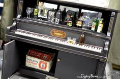 Repurposed Piano into a Bar by Gypsy Barn.