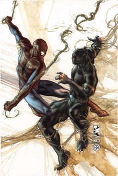 Spiderman & Black Panther by Simone Bianchi