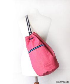 5a3275debf7b9 torebki różne - damskie- worek plecak - pink stripes -