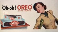 Another early ad, this one from 1928. 100 years ago today 5-6 the first oreo was sold - The first lemon-flavoured filling was introduced in the 1920s, but did not last long. (love lemon and choc!)