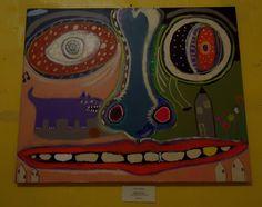 Spring Time @ Tim Faulkner Gallery Louisville,KY. Linda Akers-Brainstorm Artist FB page.Whimsical art self taught art outsider art contemporary art primitive art painting