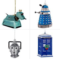 I mentioned the Tardis in my top 25 retro decorations round-up. But that was just one of the wonderful Doctor Who Christmas decorations by Kurt Adler. Doctor Who Christmas, David Tennant Doctor Who, Steven Moffat, Doctor Who Quotes, Christopher Eccleston, Rory Williams, Donna Noble, Billie Piper, Rose Tyler