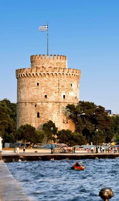 The white tower at Thessaloniki,Greece, which was a prison and scene of mass executions during the period of Ottoman | 25 Gorgeous Pictures Of Greece That Will Take Your Breath Away