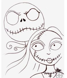 New Post-the nightmare before christmas jack and sally drawing-Trendingcheminee. Halloween Canvas, Halloween Rocks, Halloween Painting, Halloween Art, Halloween Coloring, Nightmare Before Christmas Drawings, Nightmare Before Christmas Decorations, Easy Canvas Painting, Painting & Drawing