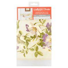 Prepasted Wallpaper Border, Purple