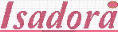 Gráficos de Nomes em Ponto Cruz: Nome Isadora em Ponto Cruz
