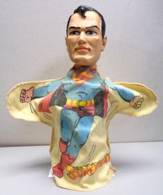 DC Comics SUPERMAN 1965 Ideal HAND PUPPET Available @QualityComicsAmerica on Etsy