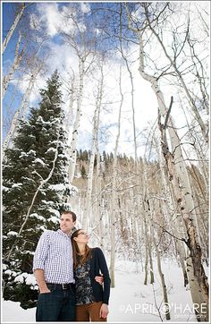 Colorado Unique Winter  Engagement Photos