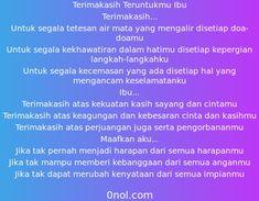 Puisi Terimakasih Ibu Dear Mom, Doa, Qoutes, Quotations, Quotes, Quote, Shut Up Quotes