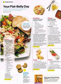FLAT BELLY DAY 7-25-13 - Nosey Parker Lifestyle Weekly INW Menu Plan less than 1500 calories and all are quite tasty too.