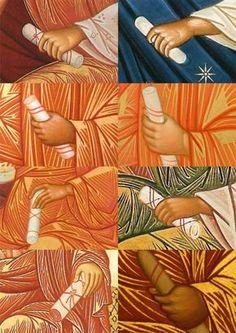 Byzantine Icons, Byzantine Art, Religious Icons, Religious Art, Writing Icon, Crafty Angels, Face Icon, Art Academy, Painting Process