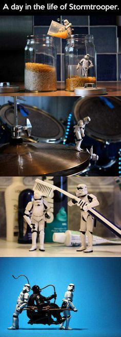 A day in a life of stromtrooper. This had me laughing so hard I couldn't stop