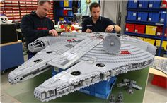 Millenium Falcon at LEGO STAR WARS Miniland at LEGOLAND California!