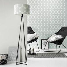 Roomblush Behang Stars grijs wit papier 1140x50cm