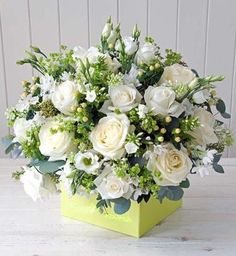 101 Flower Arrangement Tips, Tricks, & Ideas for Beginners - This floral arrangement shows proportion because the amount of white flowers is nearly equal to the - White Floral Arrangements, Church Flower Arrangements, Beautiful Flower Arrangements, Flower Centerpieces, Floral Bouquets, Flower Decorations, Beautiful Flowers, Exotic Flowers, Purple Flowers