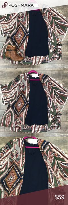 🆕 Plus Size Aztec Print Kimono Super cute kimono! Pairs great with so many colors! True to size with a loose fit. No trades. Kyoot Klothing Jackets & Coats