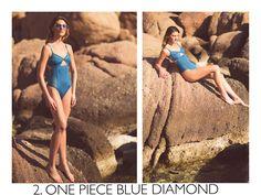 Blue diamond one piece