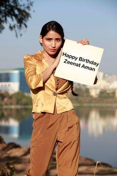 Happy Birthday Zeenat Aman. A former Miss India who turned actress.